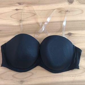 Torrid invisible strap black bra size 44DDD